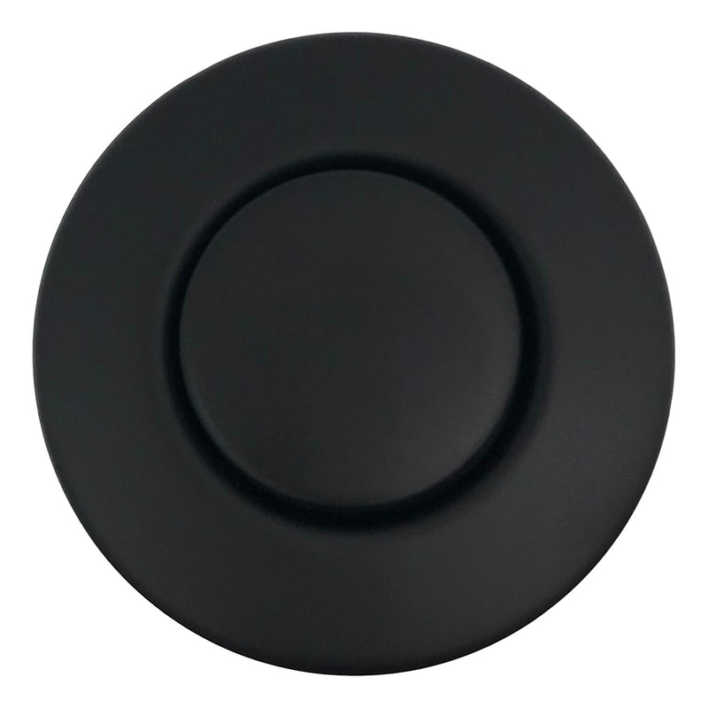 Countertop Push Button Disposal Outlet Air Switch Kit, Matte Black, Top View