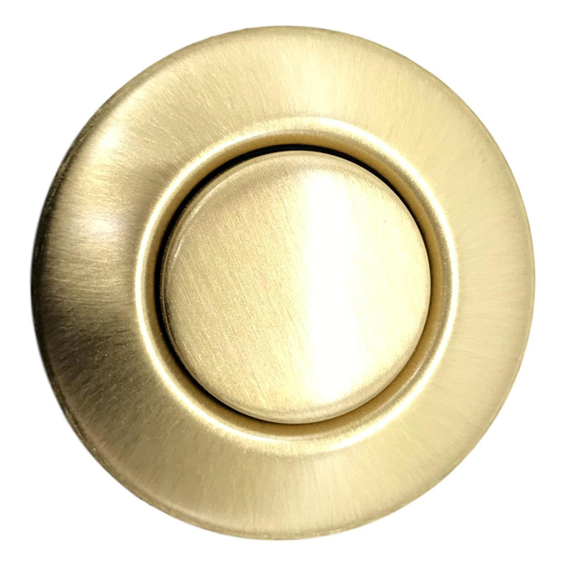 Push Button Air Switch, Satin Brass, Top View