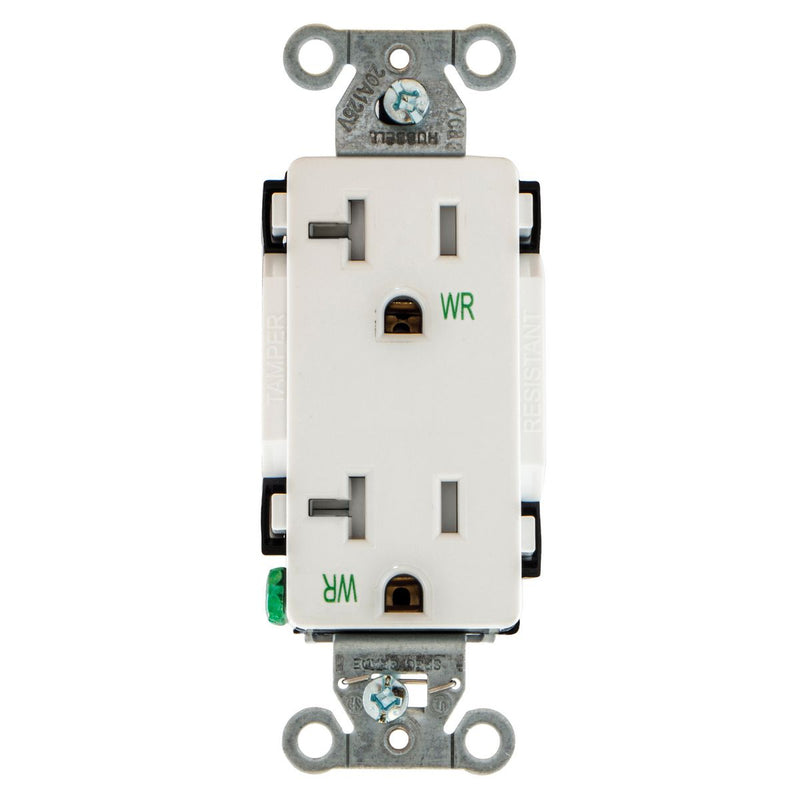 20 Amp WR TR Decora Outlet - White