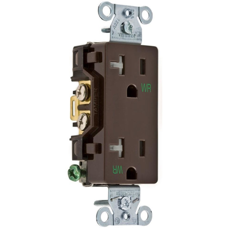 Showing brown 20 Amp TR WR outlet