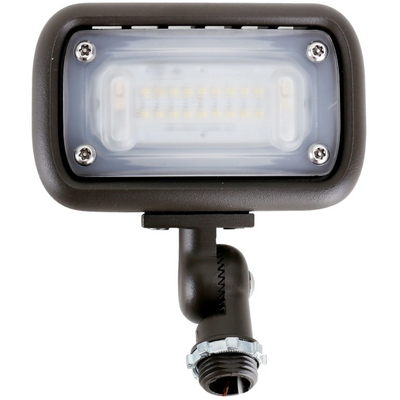 Mini LED Outdoor Flood Light, 15W, 1,500 Lumens, 4,000 Kelvin, Bronze