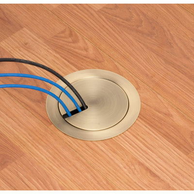 Arlington FLBR5420AB Recessed Floor Box Kit, Bronze In-Use cover