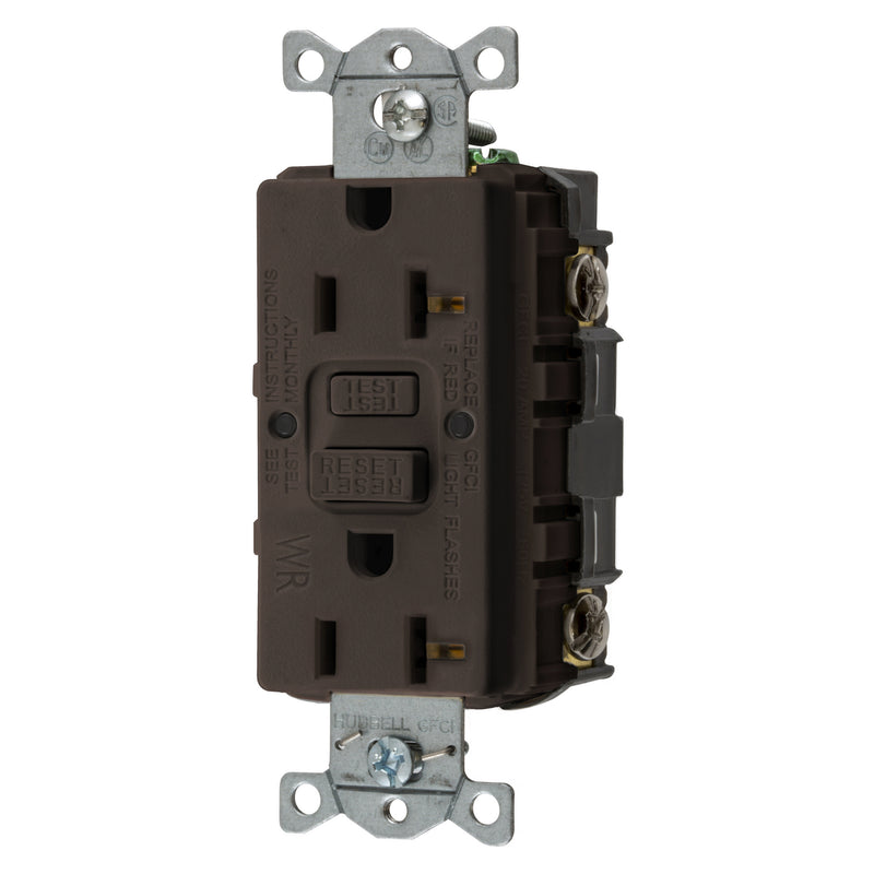 20 Amp GFCI WR TR Outlet - Brown