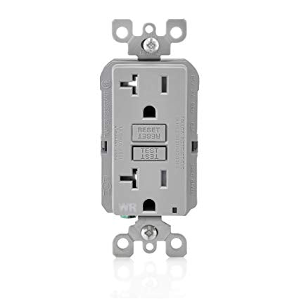 20 Amp GFCI WR TR Outlet - Gray