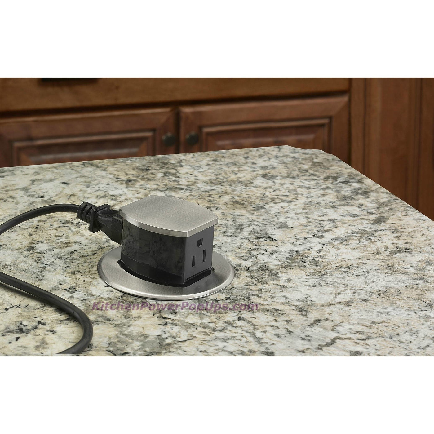 ... Hubbell RCT200ALU Waterproof Dual Sided Pop Up Counter Outlet Aluminum  Installed ...