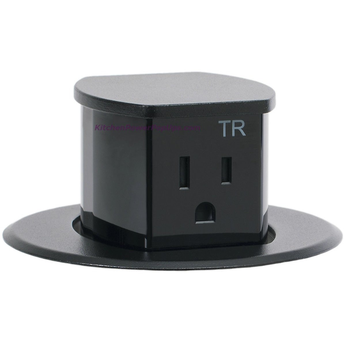 Hubbell Rct200bk Waterproof Dual Sided Pop Up Counter Outlet Black Kitchen Power Pop Ups