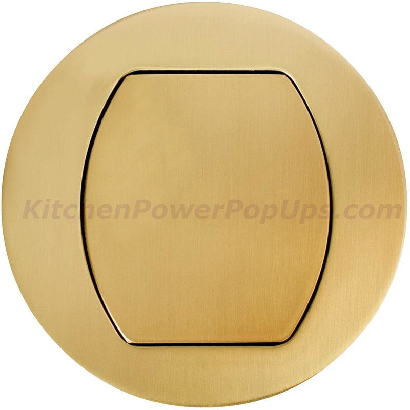 Flush Mount Replacement Cover for RCT Series Boxes - Brass
