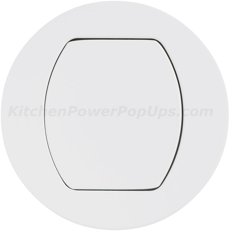 Flush Mount Replacement Cover for RCT Series Boxes - White