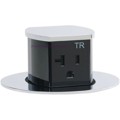 RCT221CH Waterproof Pop Up Flush Mount 20A Counter Outlet - Chrome