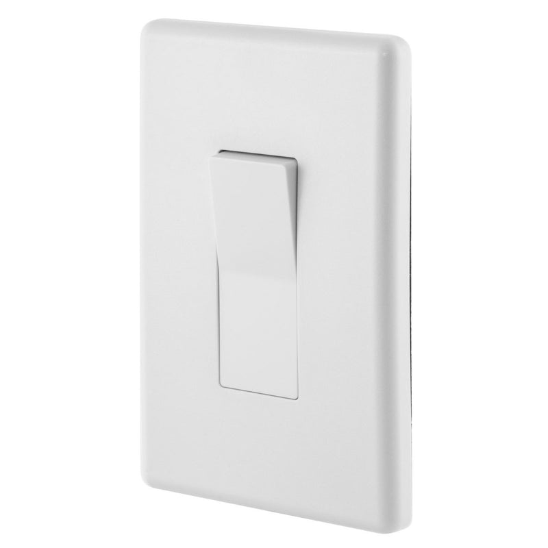 Weatherproof Exterior Wall Rocker Switch, 20 Amp, White