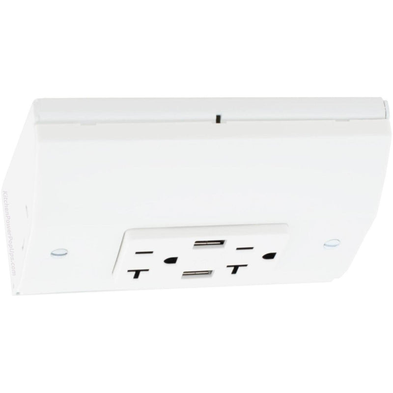 Hubbell RU270W20AUSB Under Cabinet Power 20A USB Box White
