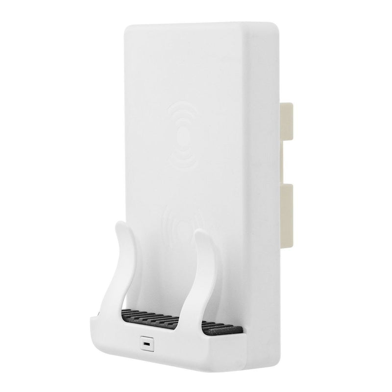 Wireless Qi Charging Phone Cradle Wall Mount, Dual Coil, White