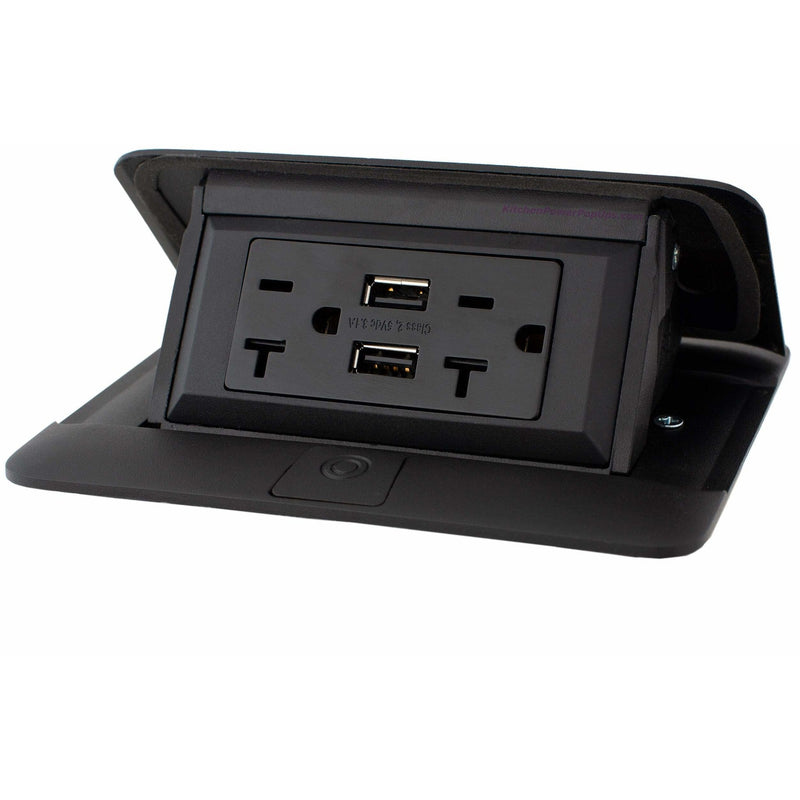 Exterior Pop Up Outlet: Legrand Wiremold Kitchen Counter Pop Up 20A USB Hardwired