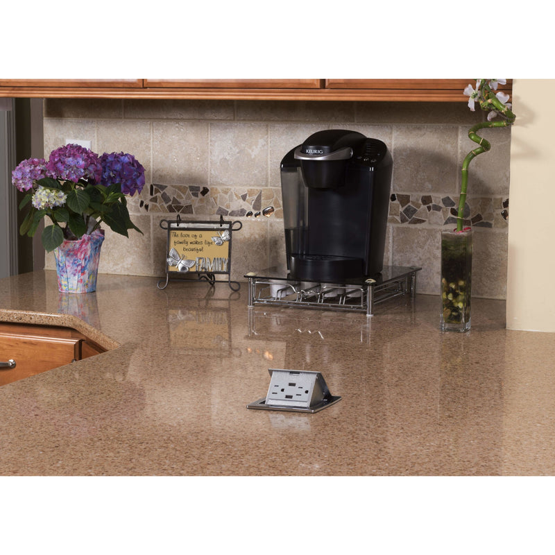 Lew Electric PUFP-CT-BKC-2USB in Kitchen Island