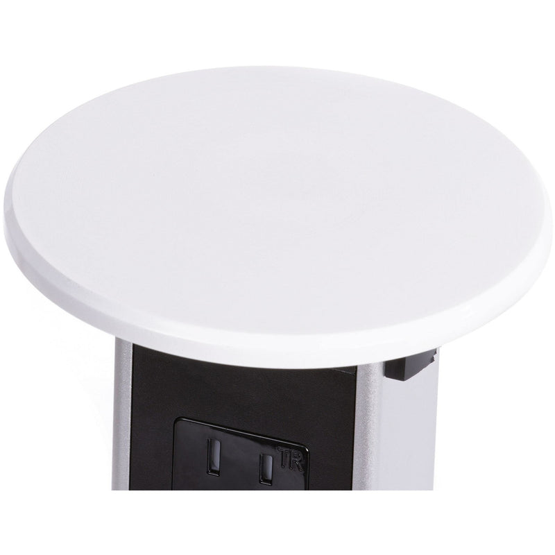 White Plastic Wireless Charging Kitchen Pop Up Outlet Top