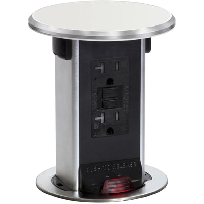 Lew Electric PUR20-OW Countertop 20A GFI Power PopUp Outlet, Off White