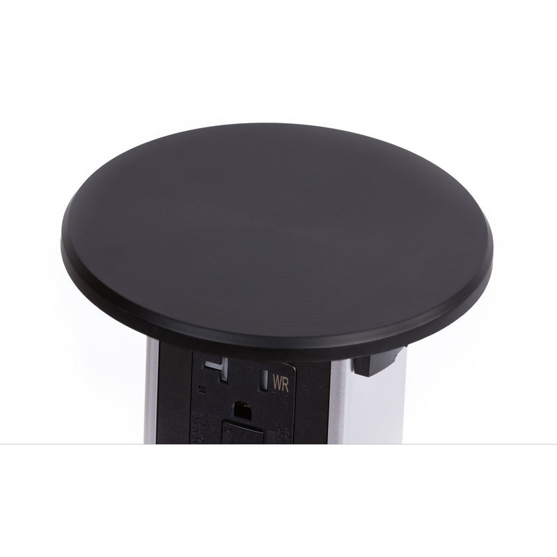 Black Plastic Wireless Charging Kitchen Pop Up Outlet Top