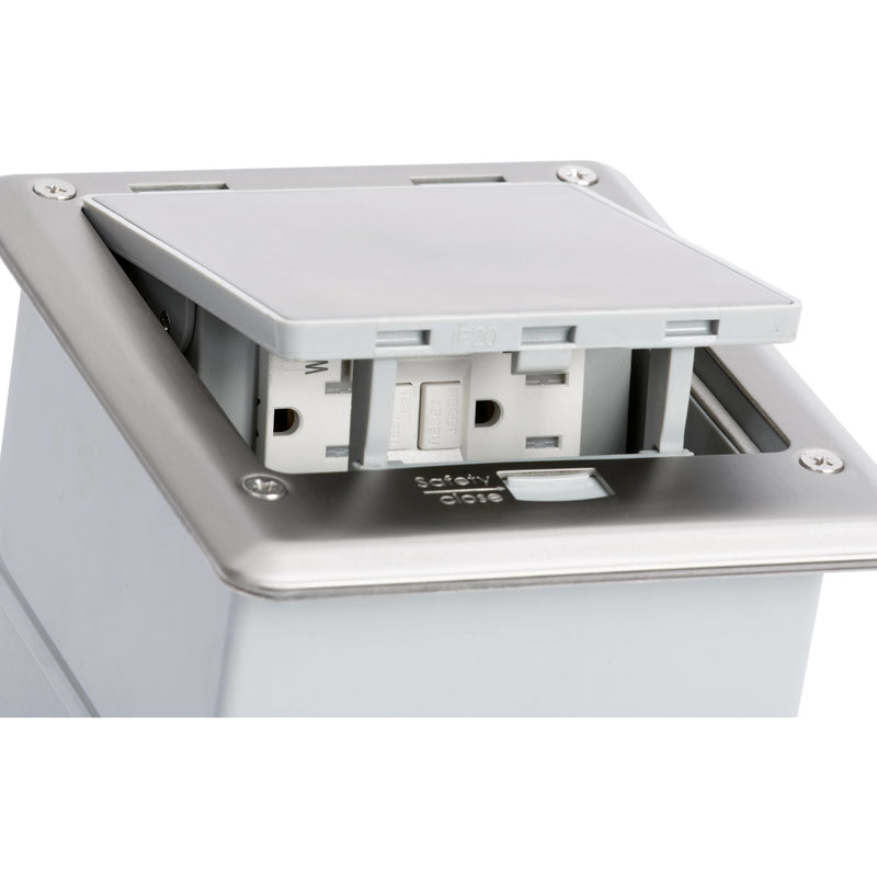 Outdoor Ground Waterproof Pop Up Stainless Steel Power Box, Push Button