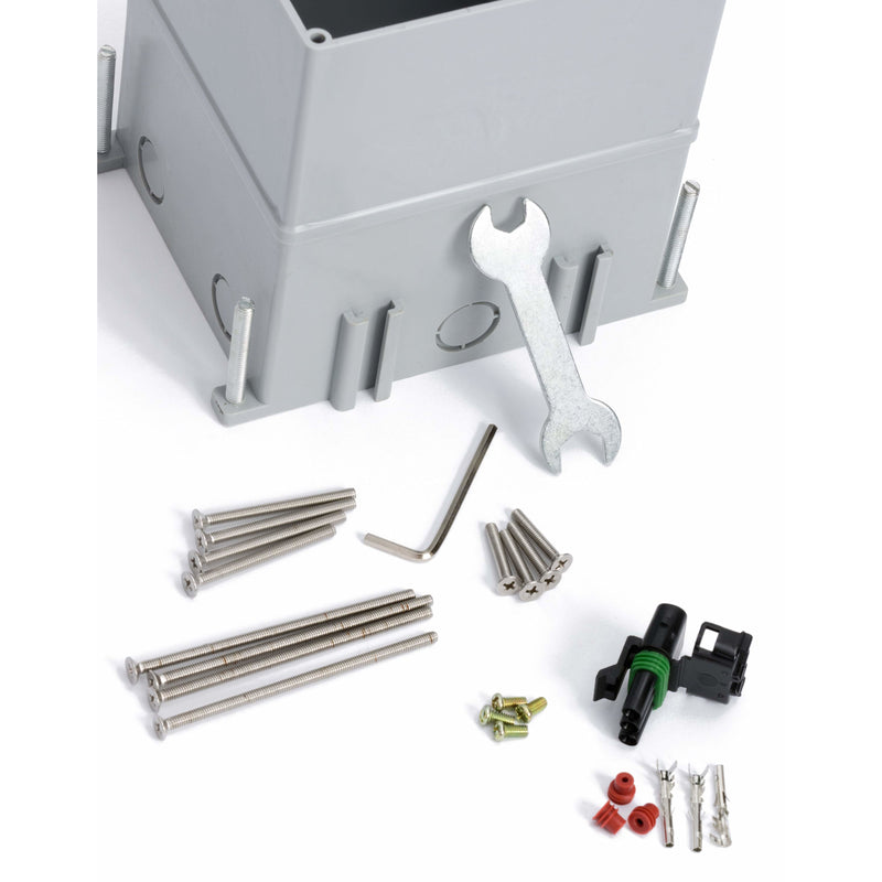 Outdoor Ground Waterproof Pop Up Stainless Steel Power Box, Hex Key