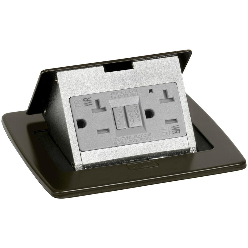 Exterior Pop Up Outlet: PUFP-CT-DB-WC Kitchen Pop Up 20A GFI Outlet, Corded Plug