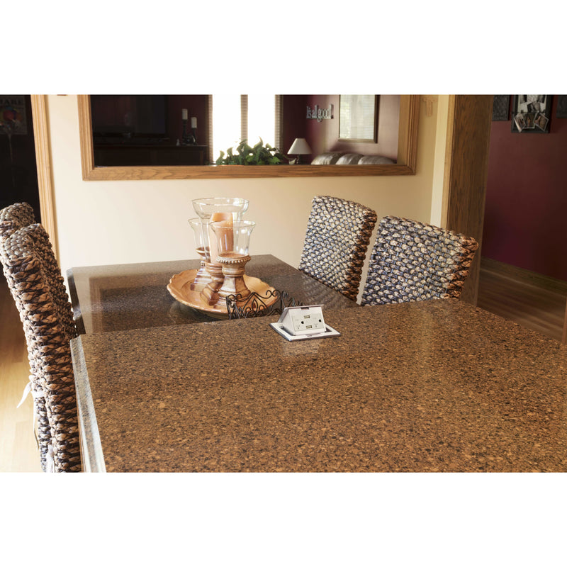 Lew Electric PUFP-CT-OW-20A-2USB Installed in Granite