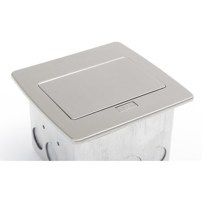 Lew Electric PUFP-CT-SS-20A-2USB-WC Kitchen Countertop Power with GFI Pop Up Outlet Close closed- Stainless Steel