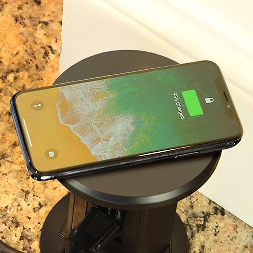 Countertop Pop Up Outlet Charging Phone Popped Up