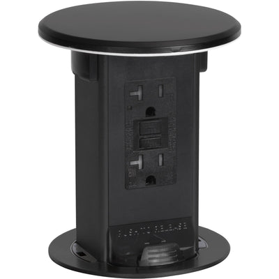 Lew Electric PUR20-BK Kitchen Waterproof Pop Up 20A GFI, Black