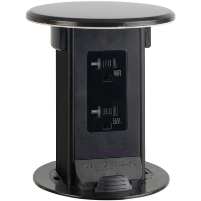 Lew Electric PUR20-DB-DS Countertop Waterproof Pop Up Outlet, Bronze