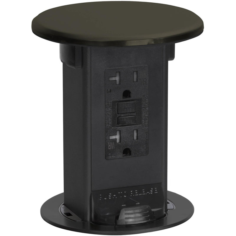 Lew Electric PUR20-DB Kitchen Waterproof Pop Up 20A GFCI - Dark Bronze