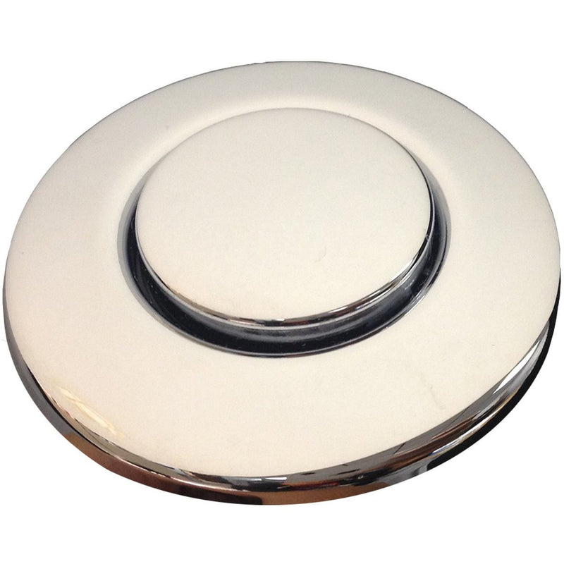 Push Button Air Switch, Polished Chrome, Top View