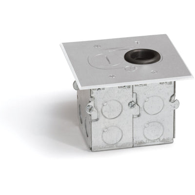 Lew Electric RCFB-1-A Concealed Plug Floor Box, One Duplex, Aluminum