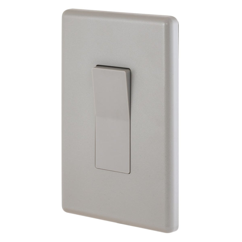 Weatherproof Exterior Wall Rocker Switch, 20 Amp, Gray