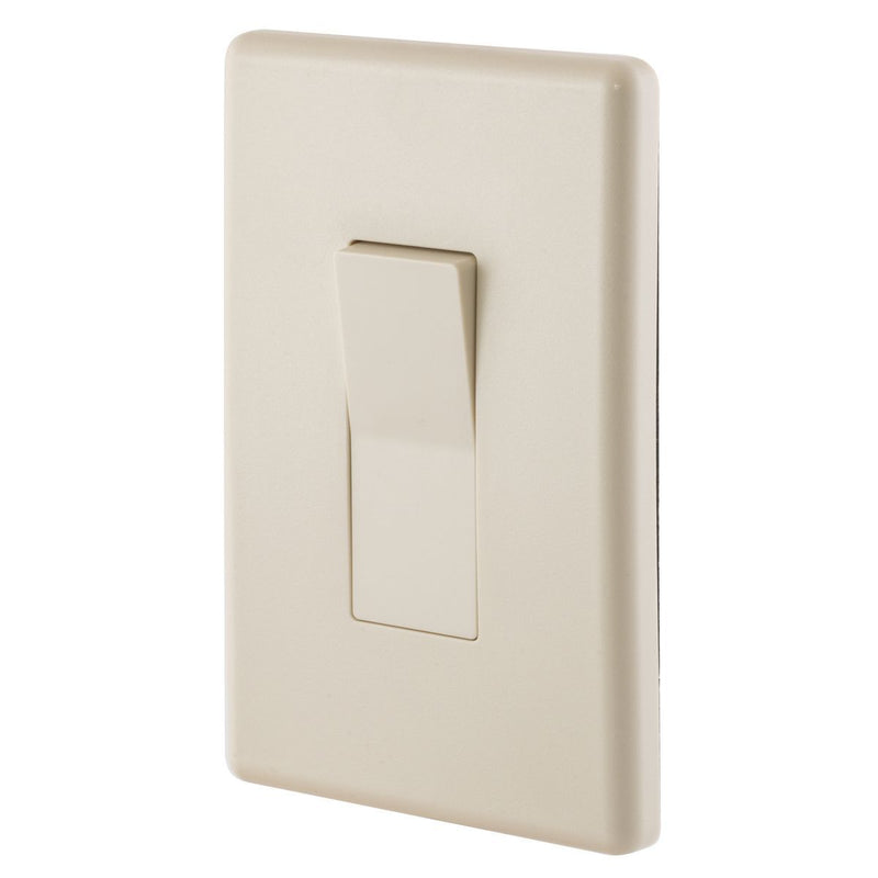 Weatherproof Exterior Wall Rocker Switch, 20 Amp, Light Almond