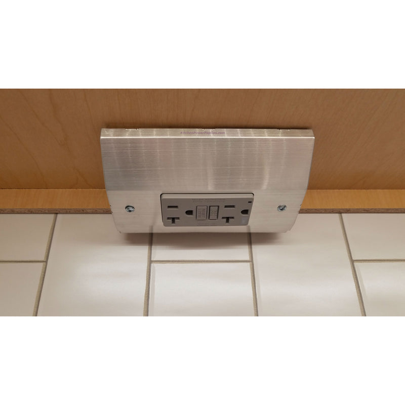 Hubbell RU100SS20AGFI Under Cabinet Power Box