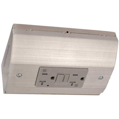 Under Cabinet Power Box with GFI, Stainless