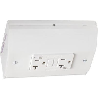 Under Cabinet Power Box with GFI, White