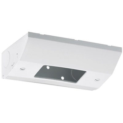 Under Cabinet Low Profile GFCI Power Outlet / Light Switch Box, White