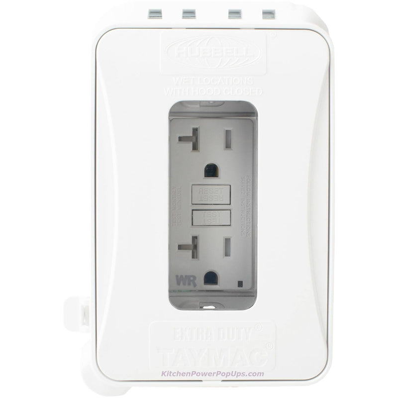 ML500W White Outdoor Weatherproof Wall Box with Matching GFCI Outlet