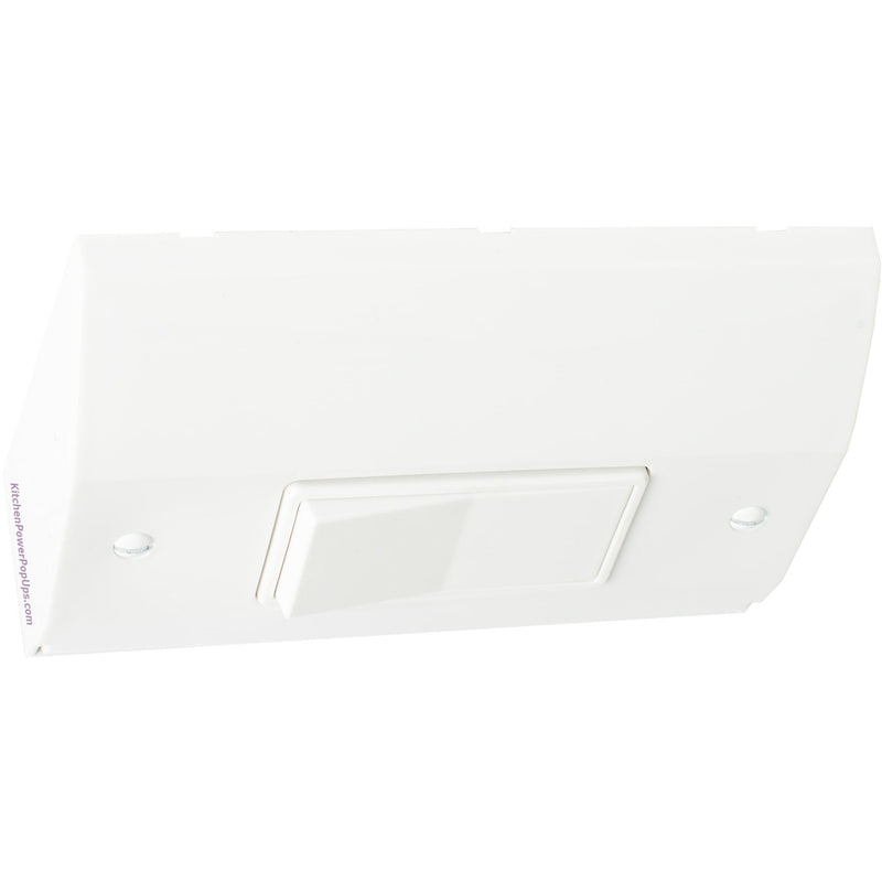 Under Cabinet Slim Light Switch Box, White