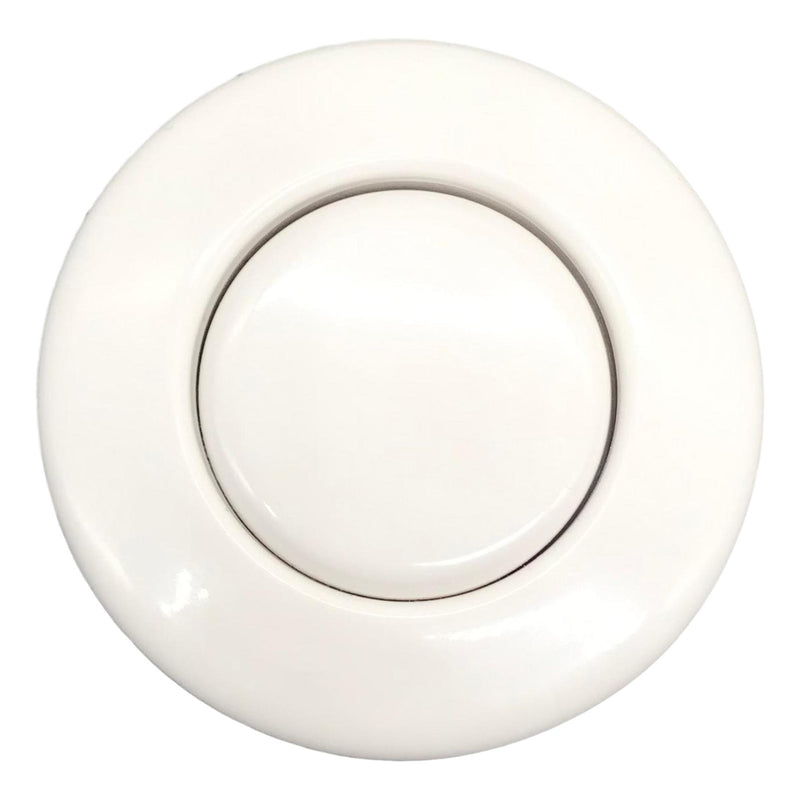 Push Button Air Switch, White, Top View