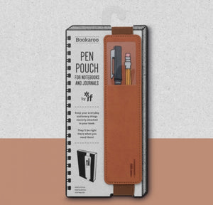 BOOKAROO PEN POUCH - BROWN