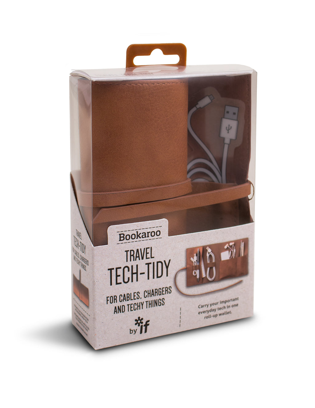 BOOKAROO TRAVEL TECH TIDY - BROWN