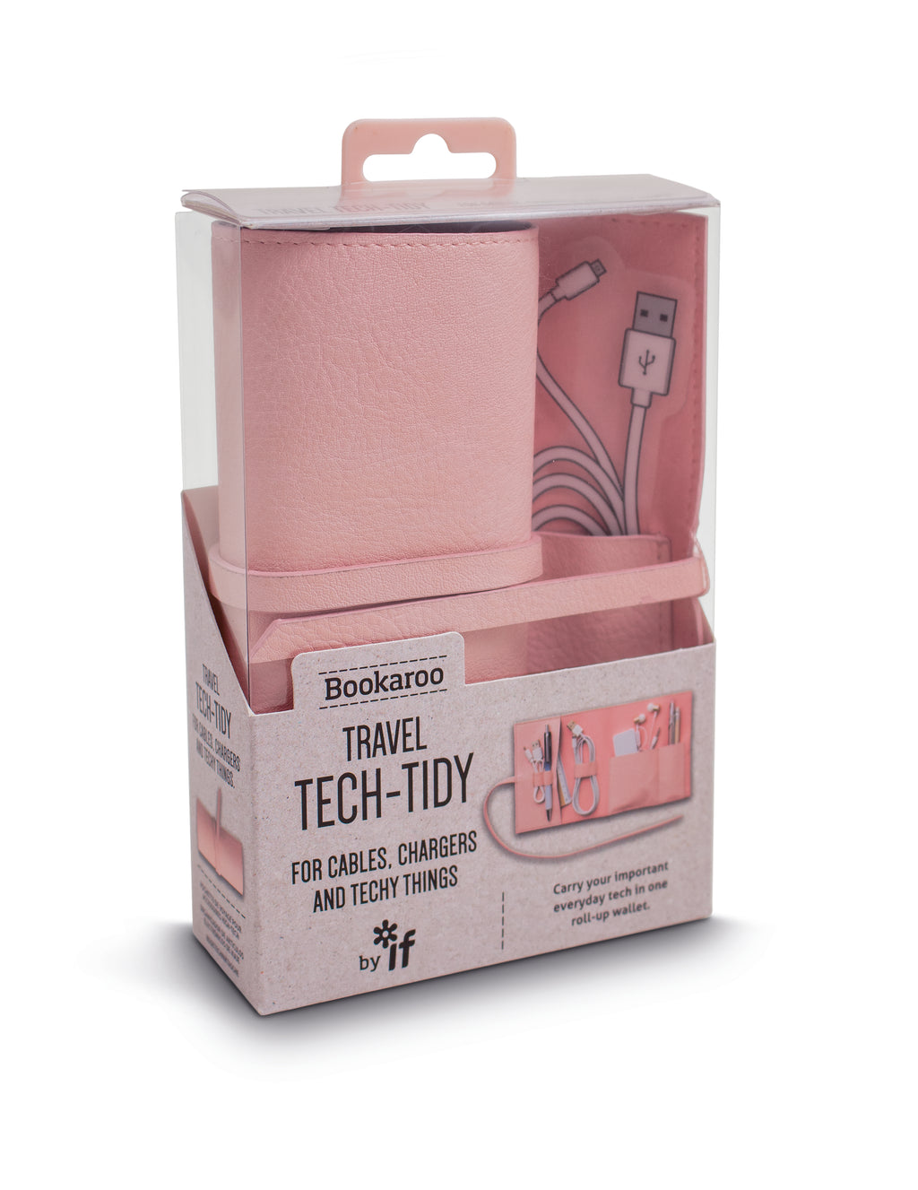 BOOKAROO TRAVEL TECH TIDY - PINK