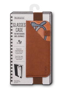 BOOKAROO GLASSES CASE - BROWN