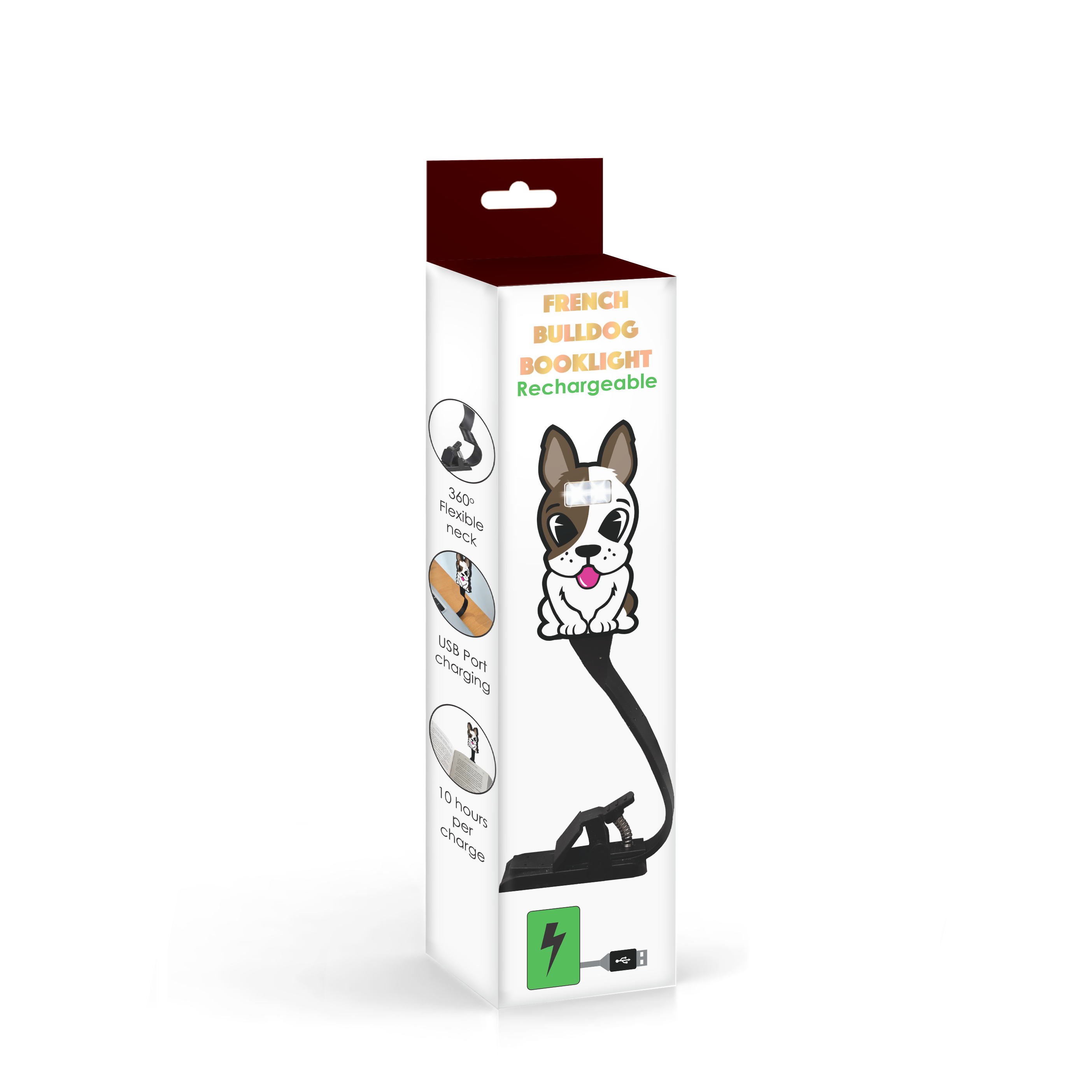 Animal Book Light Rechargeable - Dog