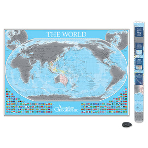 AG World Scratch Map