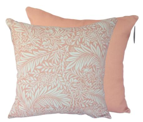 Cushion - William Morris (Rose Gold Larkspur)