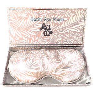 Satin Eyemask - William Morris (Rose Gold Larkspur)