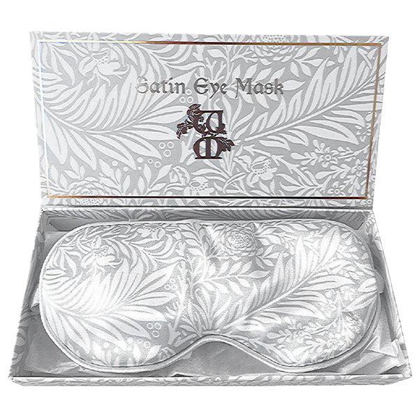 Satin Eyemask - William Morris (Grey Larkspur)